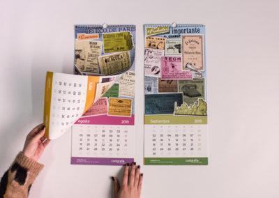 Calendario 2019 de Cadigrafia, agencia de publicidad y comunicación