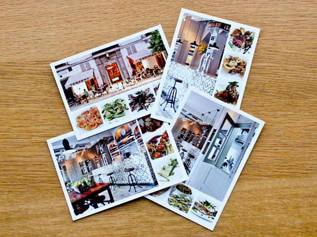 Diseño de cartas para restaurante Garimba Sur en Vejer