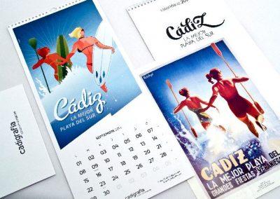 Calendario de Cadigrafia 2014 Cádiz la mejor playa del sur